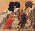 Maria ja Ylösnoussut,   Buoninsegna di Duccio v.1308
