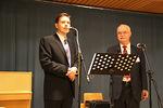 Peter Hagman kertoi juhlan taustoista ja luki kaupunginjohtaja Erkki Kukkosen juhlaan lähettämän tervehdyksen