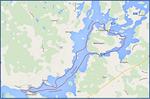 Melontaretkemme reitti Salonsaaren ympäri kiertäen ja myös Vammalan alapuolella Liekoveden puolella käväisten.
