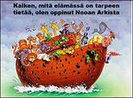 Syventymällä Nooan arkin rakentamiseen ja kelluntaan voi oppia paljon tärkeää...