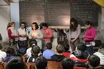 Toimintakeskuksen lapset esittivät laulaen ja lausuen monenlaista jouluun liittyvää ohjelmaa