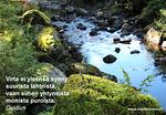 Ilman lukemattomia pieniä puroja suurikin virta menettää voimansa.