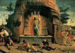 Jeesus nousee kuolleista, Andrea Mantegna, noin vuosina 1457-59