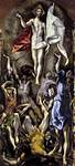 Jeesus nousee kuolleista, El Greco, v.1576