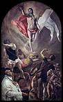 Jeesus nousee haudasta, El Greco, v.1577