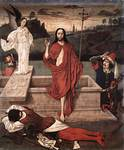 Jeesus nousee haudasta, Dieric Bouts vanhempi, v.1450-60