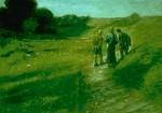Lk.24.13. Matkalla Emmaukseen, Fritz von Uhde, v.1891, Luuk.24:13