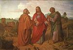 Jeesus matkalla Emmaukseen. Joseph von Führich, v. 1837