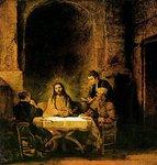 Illallinen Emmauksessa, Rembrandt, v.1648