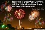 Jälleen on alkanut uusi armon vuosi. Kiitos siitä, Jeesus!