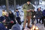 Metsäretken opetuksesta huolehti rovasti Yrjö Niemi