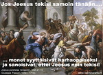Fariseuksille ovat tärkeitä perinnäissäännöt ja muotomenot, Jeesukselle ihmiset