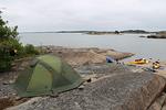Näinkin kovalla alustalla nukkuu mukavasti, kun käytössä on hyvät telttapatjat.