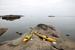 Tällaisia usvan pehmentämiä peilityyniä aamuja merellä ei ole kovin usein.