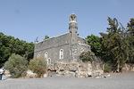 Galileassa tutustuimme Raamatun paikkoihin. Tämä kirkko on Pietarin kalasatamassa.