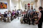 Kaanan kylässä vierailtiin pienessä kirkossa