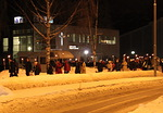 Ristisaatto lähti matkaan Järvenpään Vapaaseurakunta Arkissa pidetyn rukoushetken jälkeen.