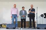 Lopuksi Kari Muukka (vapaa-srk), Herman Blomerus (helluntaisrk) ja Reijo Telaranta (luterilainen-srk) rukoilivat yhdessä Järvenpään sekä sen seurakuntien ja asukkaiden puolesta.