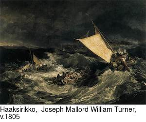 Haaksirikko,  Joseph Mallord William Turner, v.1805