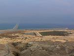 Näkymä vuorilta itään yli Kuolleen meren eteläpään