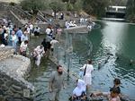 Jordanin kastepaikka Jardenit on lähellä Gennesaretin järveä.