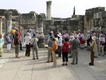 Tutustuimme myös Kapernaumin synagogaan